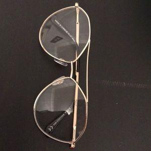 Fake Glasses black and gold